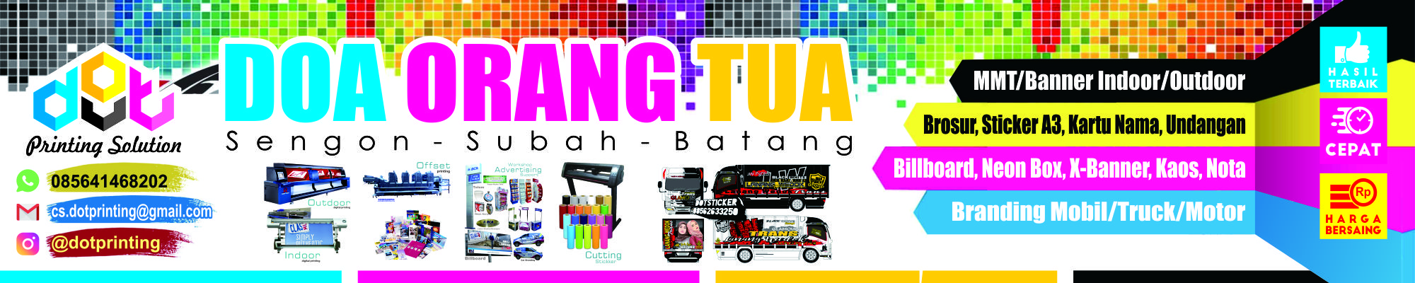 DOT Printing dan cutting sticker