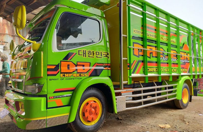 Cutting Sticker Truck Model Terbaru Adaptasi Livery Bus By dot cutting sticker