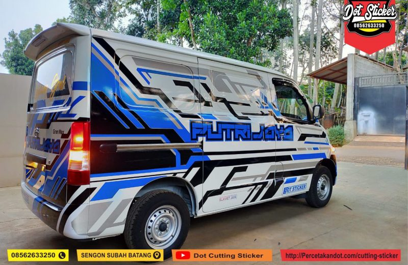 cutting sticker mobil grand max minibus dot sticker