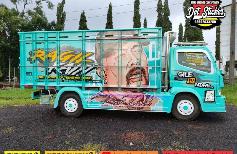 cutting sticker truck canter bak truck tosca feat putra ragil karoseri