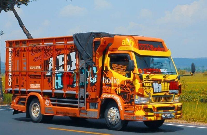 dot sticker cutting sticker truck, mobil & sepeda motor