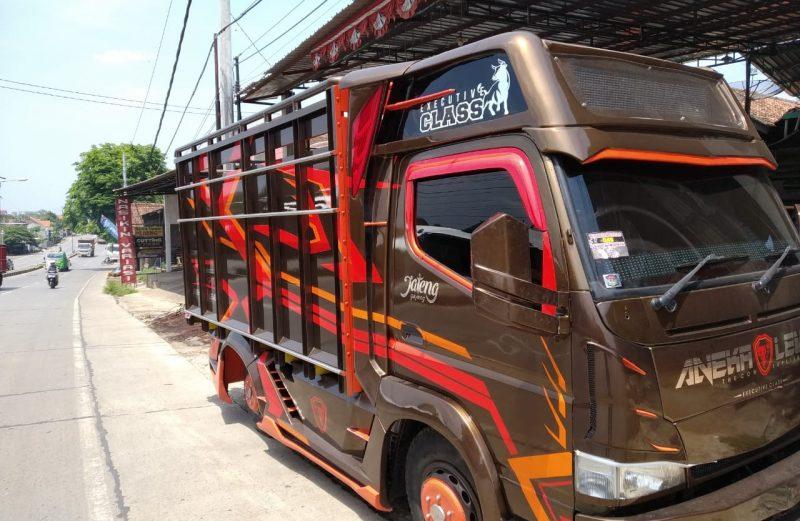 cutting sticker truck engkel kontestan kontes truk purwokerto