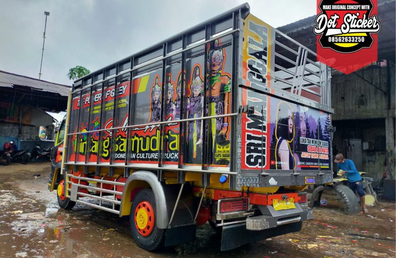 sticker truck canter terbaru grey abu-abu by dot sticker