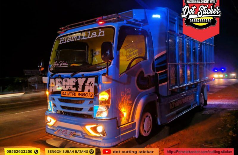 cutting sticker truck elf edisi spesial new bohlawok family feat aries poetra karoseri