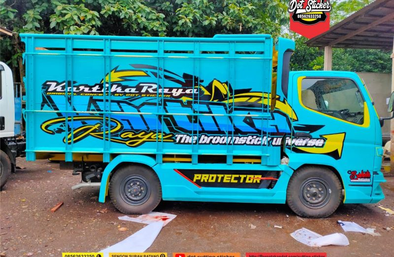 cutting sticker truck engkel tosca by dot sticker